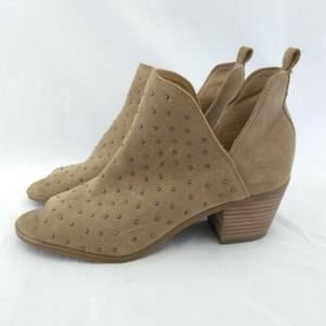 Lucky Brand 9M Shooties Suede Studded Open Toe
